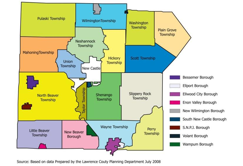 LAWRENCE COUNTY County was created on March 20, 1849, from parts of Beaver and Mercer counties.
