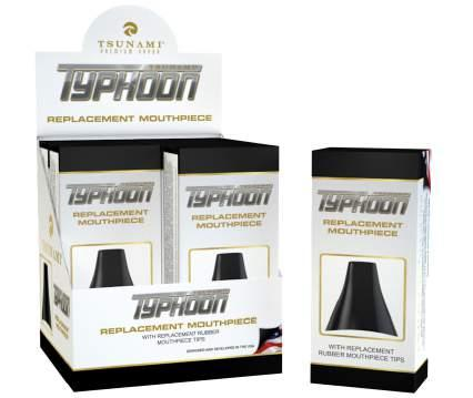 Typhooon. The black plastic cap that connects to the vaporizer base is now available.