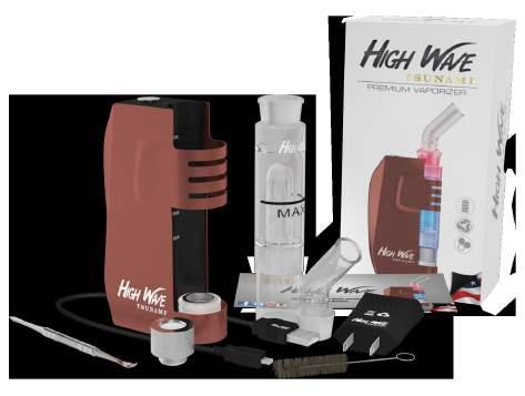 813746025103 HIGH WAVE PREMIUM VAPORIZER The Tsunami High Wave uses ceramic heater and donut-shaped heating wires as a