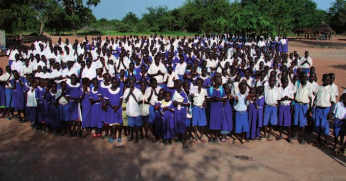 FEATURES EDUCATION IN SOUTH SUDAN Education in South Sudan Across the flat, tree-less swamps of central South Sudan and past the young boys spearing fish, you stumble across the slightly higher lands