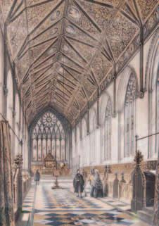 FEATURES LOST MERTON 9 Plate 2 James Hope-Scott, drawing by George Richmond (SCR) Plate 3 Merton College Chapel: a. In 1813, before restoration (Ackermann); b.