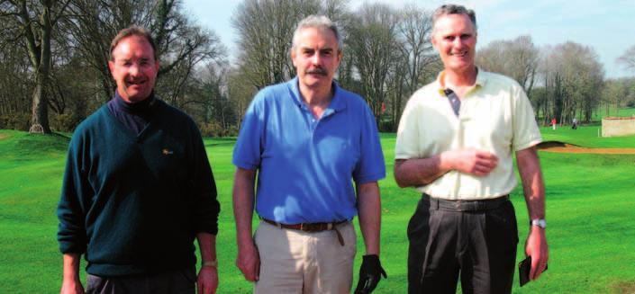 Merton Golf Society GOLF SOCIETY MERTONIANS RICHARD SEDDON (ORIEL), PAUL CHAMBERLAIN (MERTON) AND JIM CADWALLADER (KEBLE) AT THE INTER-COLLEGIATE TOURNAMENT The Spring meeting on 16th March again at