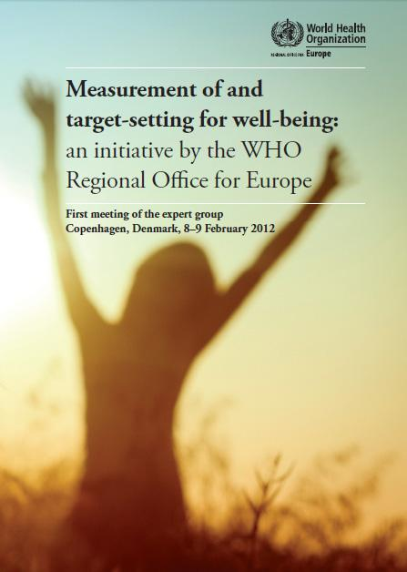 Expert group s definition of well-being