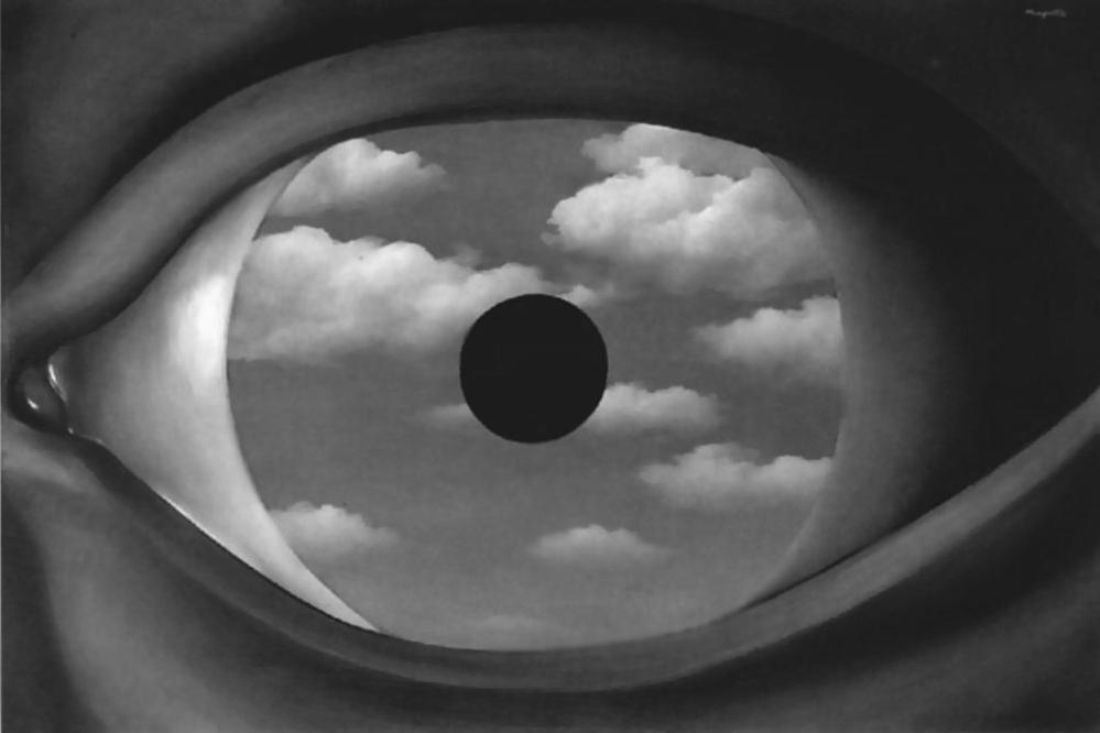 False mirror - Magritte dialogue central and primary, and the old opposition