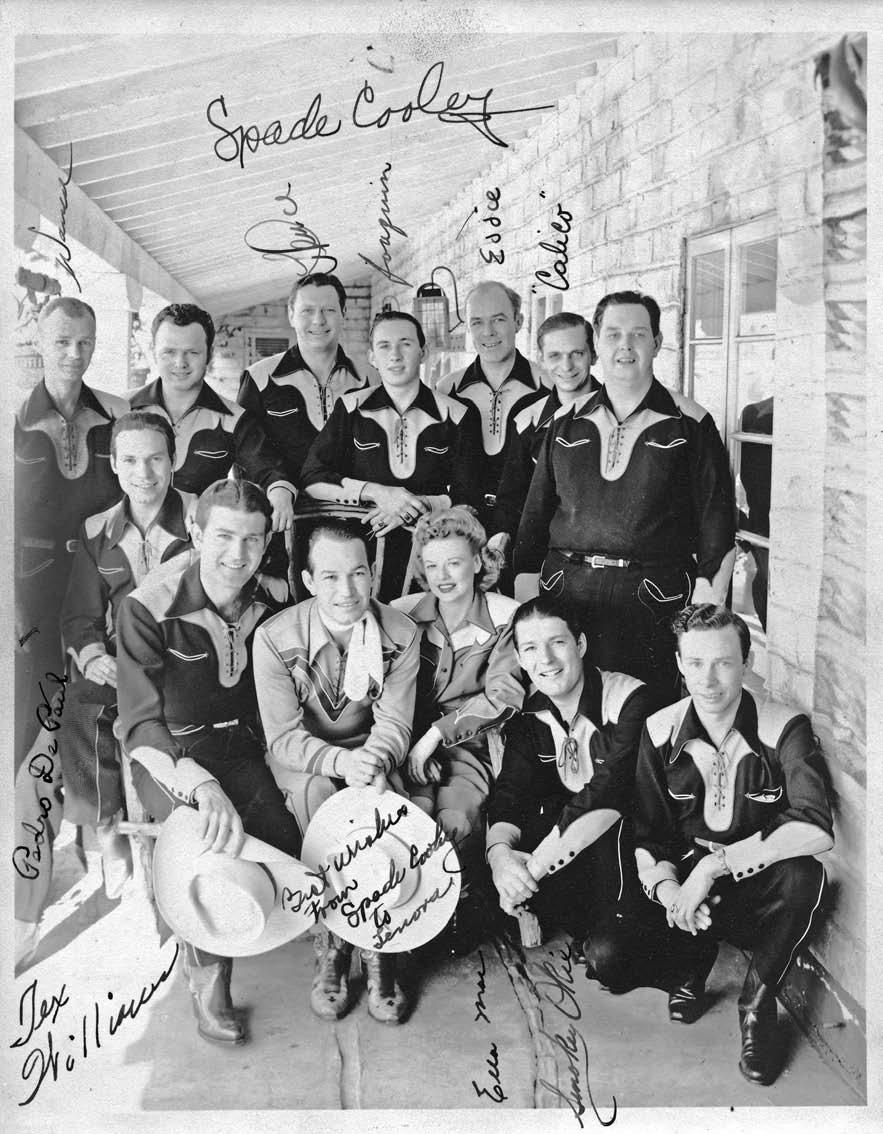 Cooley 66 Spade Cooley, the self-proclaimed King of Western Swing (pictured here with wife Ella Mae and his band, the Barn Dance Boys), was popular during the 1940s, but saw his career wane in the