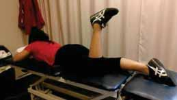 Prone bent knee hip extension: Patient is instructed to lie on stomach with