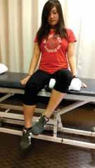 Seated AROM: Patient sits on the side of the bed as with isometrics, only