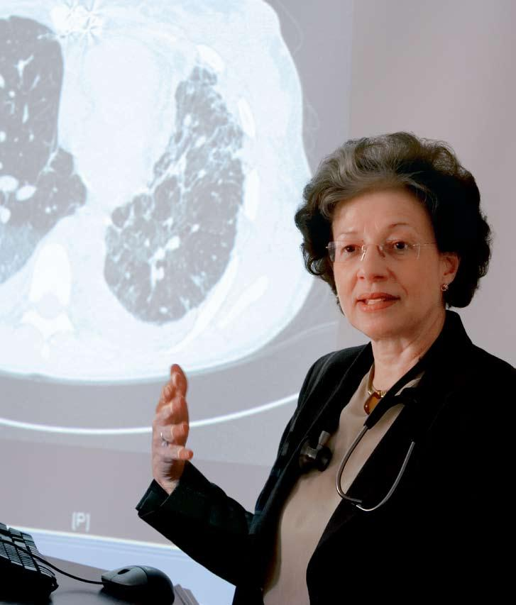 DR. MARIA PADILLA joined the Division in 2004 as Director of the Pulmonary Fibrosis and