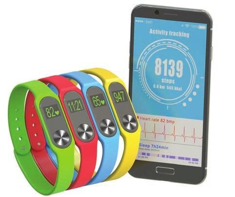 Most digital activity trackers provide information on the number of steps, distance, calories burned and activity time.