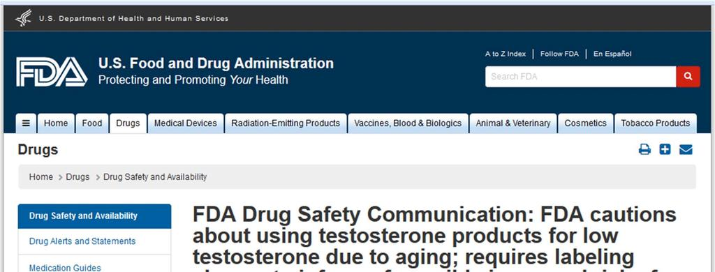 March 3, 2015 FDA warning!