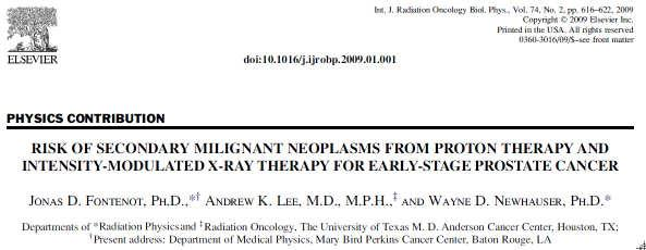 Results: Proton therapy reduced the risk of SMN by 26 to 39% compared to IMRT.