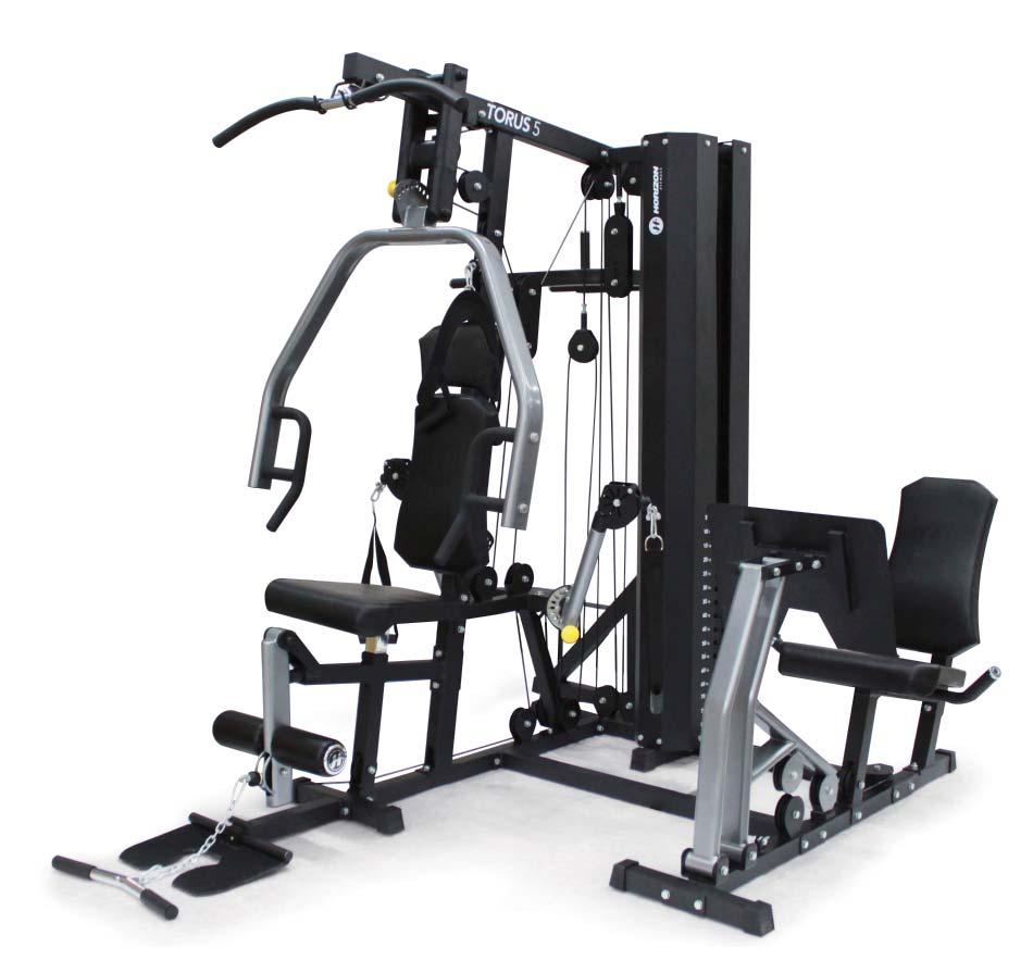 HOW TO USE THIS GUIDE The Horizon Torus Home Gym includes eight different workout stations, as identified on this page. Each station offers multiple exercise options.