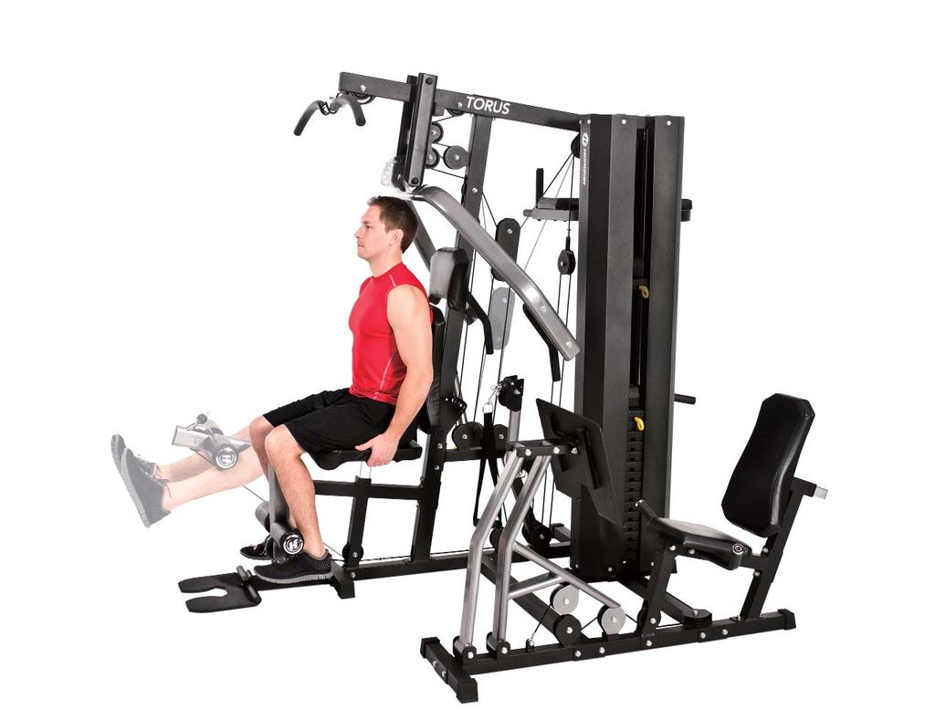 SEATED LEG EXTENSION 4 1. Adjust the seat height to place your knees as close as possible to the leg lever pivot. 2.