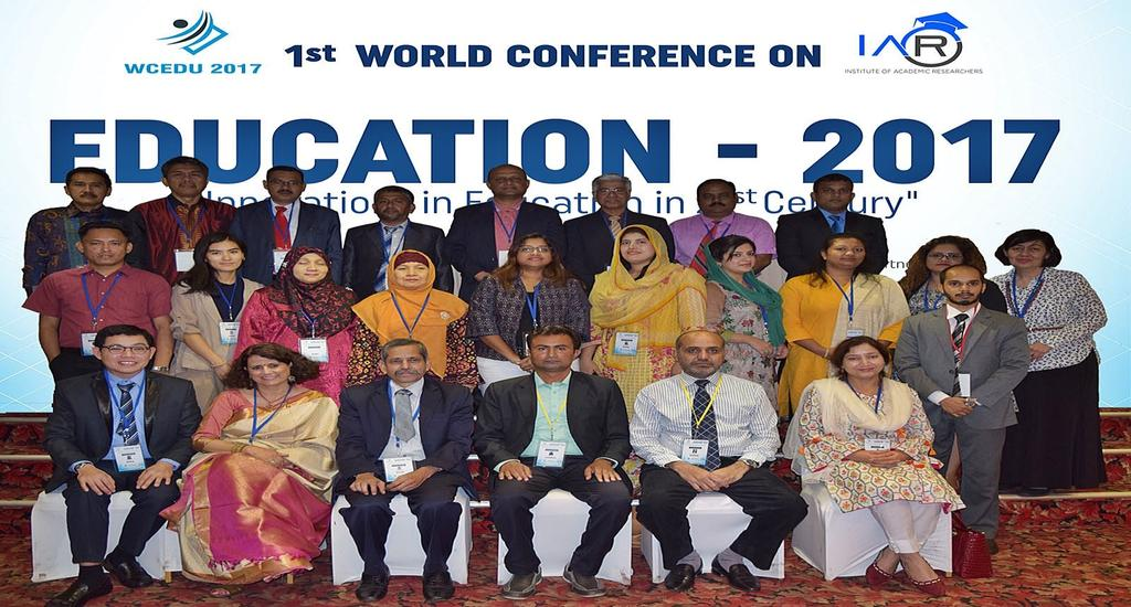 IAR Conferences Highlights World Conference on Education WCEDU 2017 12th - 13th October 2017 @Global Towers Hotel, Colombo 06, Sri Lanka 30 Plus