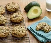 Avocado Oatmeal Breakfast Cookies These cookies made with avocado, whole grains, cinnamon, and dates make for a delicious and healthy on-the-go breakfast!