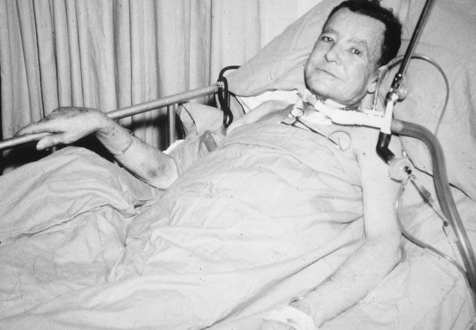 26 HARDY Fig 2. J.R., the first human lung transplant recipient following the operation.