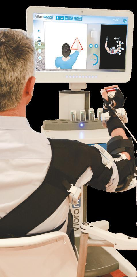 MOBILITY RECOVERY Vibramoov therapy for upper limb gives the patient the sensation of multi-joint movements and drives him to realize important motor responses.