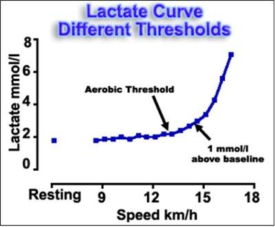 You will notice on the chart above that we did not indicate the lactate threshold. That is because there is no clear point on the curve that can be identified with this effort level.
