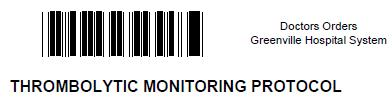 Standardized monitoring protocol Includes