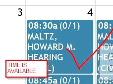 hearings. In order to schedule a hearing, there must be an event block created. 2.