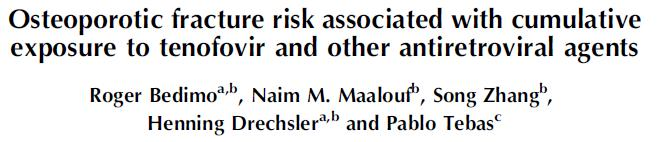 #8. Tenofovir and boosted PIs are associated with an increased the risk of fracture 1.3 1.2 Hazard ratio 1.1 1.0 0.9 0.