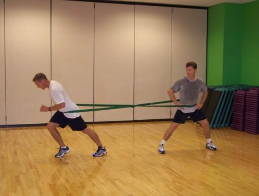 individuals to train essentially any resistance band exercise or