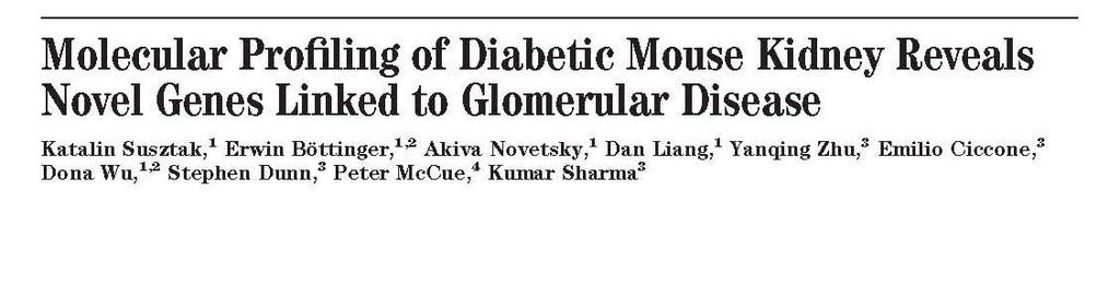 2004 Publications Diabetes, 53:784, 2004 Kidney International, 65:---, 2004 04-PLME-RA-0120R1 Revised Manuscript Submitted October 12, 2004; PLoS Medicine Multiple Metabolic Hits Converge