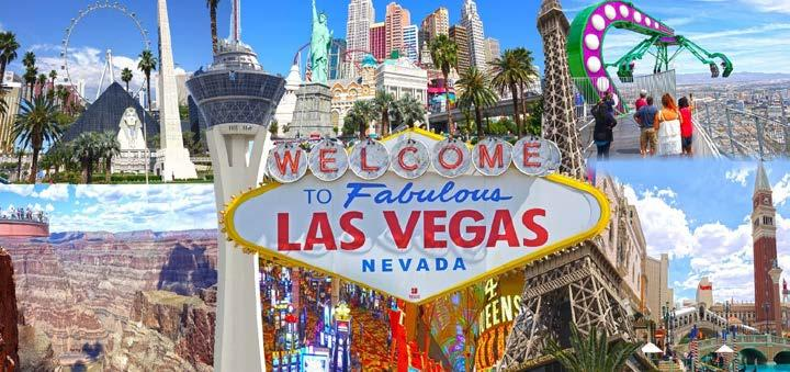 About Las Vegas Las Vegas is situated within Clark County in a basin on the floor of the Mojave Desert and is surrounded by mountain ranges on all sides.