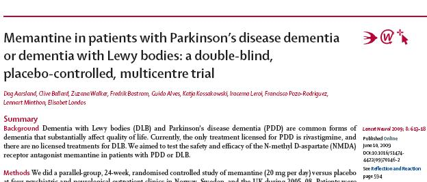 63 patients with DLB or PDD randomised to