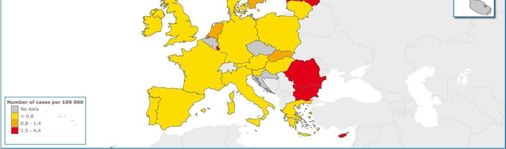 in Europe 2012 *Countries were included if they were able to present data by
