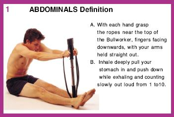 1. ABDOMINALS Definition A. With each hand grasp the ropes near the top of the Bu