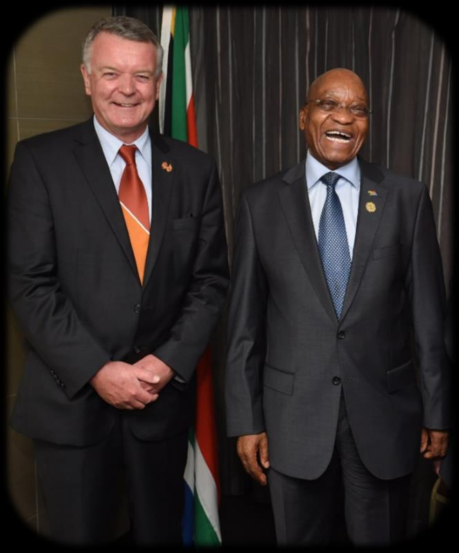 Patrick Foley ~ Class of 1975 Patrick Foley is pictured above with South Africa s President Zuma at the recent G20 conference.
