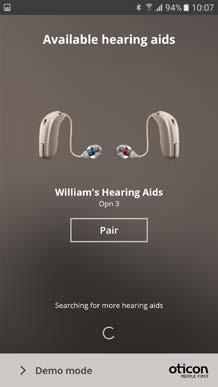 If someone else s hearing aids appear, try to search for your hearing aids