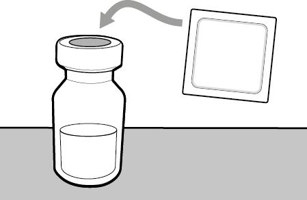 1. PREPARATION 2. INJECTION 3. DISPOSAL Step 1. Remove vial cap and clean top Take the cap off the vial(s). Clean the top of the vial(s) stopper with an alcohol wipe.