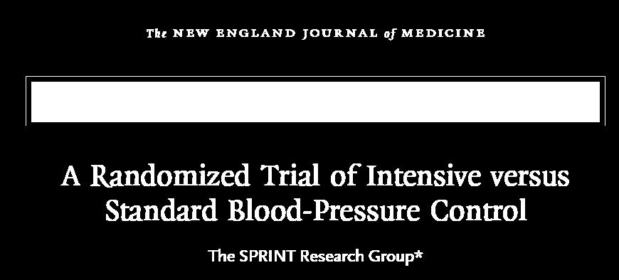 SPRINT Study Intensive Group <120 mmhg; Standard