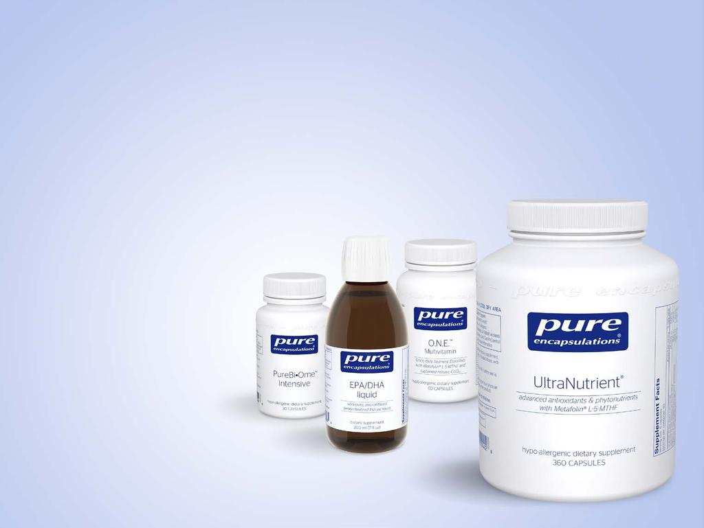 Pure Encapsulations Updates to the Supplement Facts Panel: What, Why