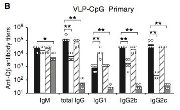 TLR signaling in B cells via adaptor Myd88 augments Ab response
