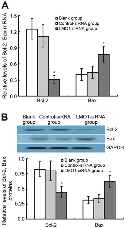 ONCOLOGY LETTERS 14: 6511-6518, 2017 6517 Figure 7. Effect of LMO1 sirna on apoptosis of MKN45 cells. MKN45 cells were transfected with LMO1 sirna, and then were subjected to flow cytometry (FCM).