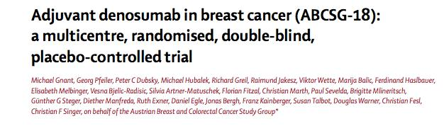 Fracture Data For Denosumab in Early Breast Cancer
