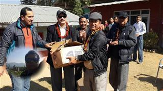Sanjiv Rijal will be donating water tank for the panchkhal health camp.