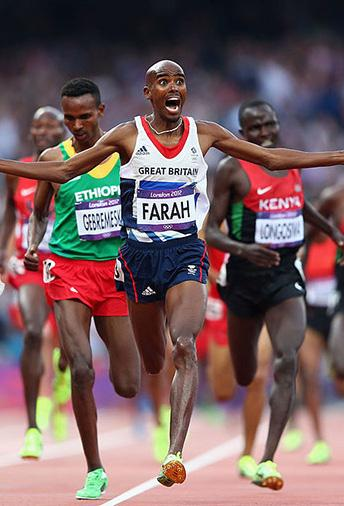 How does the lifestyle and training of a sportsperson such as Mo Farrah help