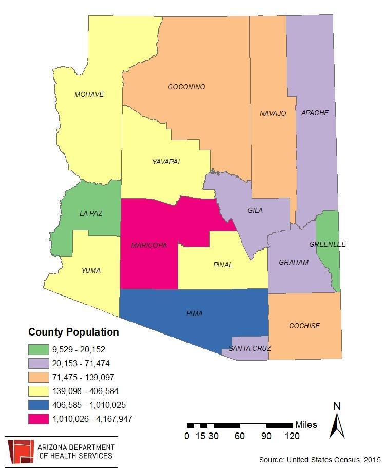 Population by County Arizona is a very diverse state in terms of the size and population of our counties.