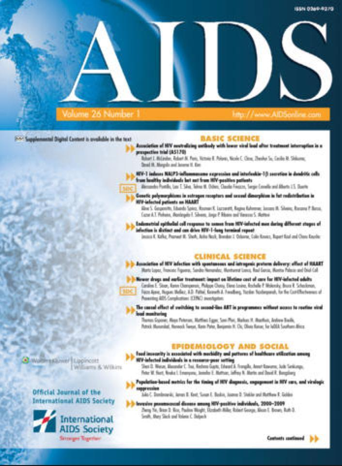 Testosterone replacement therapy among HIV-infected men in the CFAR Network of Integrated Clinical Systems (CNICS). AIDS. Accepted.