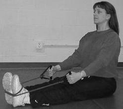 Lunge Stand in a staggered stance, position one foot on band and other