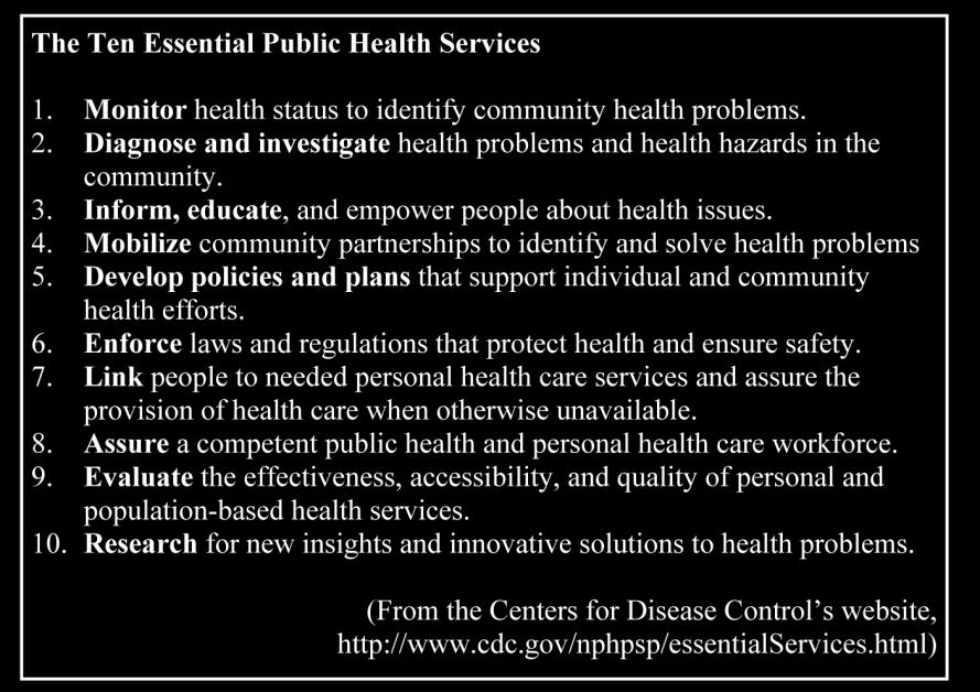 Local Public Health System Assessment Page 2 Southern Nevada Health District, Las Vegas, NV The Local Public Health System Assessment The Local Public Health System Assessment (LPHSA) is one of four