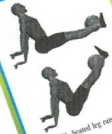 (figure 23) Lying leg raises- ball between ankles to 90 at hip.