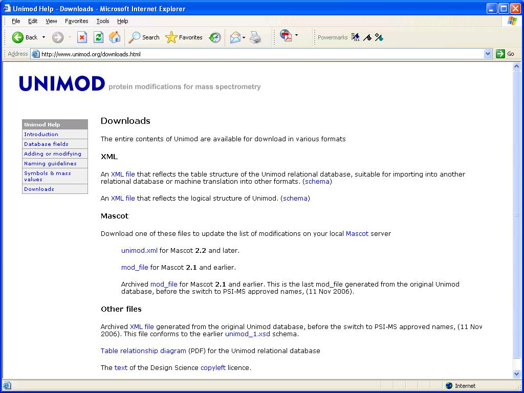 If you go to the help page, there is a link to download the contents of Unimod as a Mascot