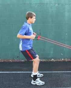 ST - 9 LOW ROW Strength Training Improve strength in upper body and upper back Improve core strength and balance Tie the tubing to a fence or post about a foot off the ground.