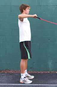 ST - 2 90-90 External Rotation Strength Training Injury prevention in the shoulder/upper back Strengthening the rotator cuff Attach the tubing to a secure location - like a fence or a net post.