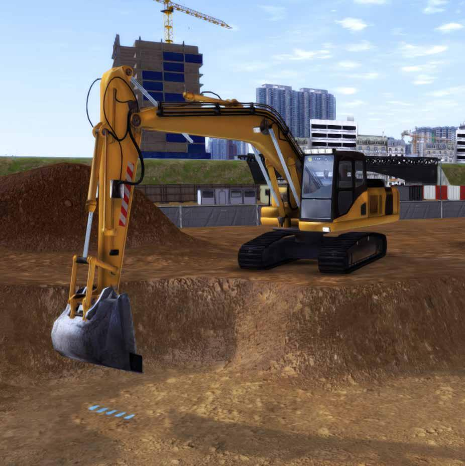 ACREOS SIMULATION OBJECTIVES EXCAVATOR This simulation pack developed by Acreos offers a complete learning experience for the operation and functions of an excavator.